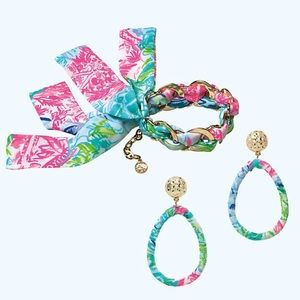 Lilly Pulitzer earring &matching bracelet NWT